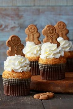 Gingerbread Latte Cupcakes