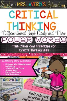 These critical thinking activities are perfect for any classroom teacher who is teaching their students how to respond to higher level thinking questions.  These differentiated task cards and no-prep printables are perfect for reading comprehension, problem solving in math, STEM or STEAM challenges in science, or even social studies lessons.  Click here to take a closer look at the preview and discover the variety of activities included in this creative and critical thinking packet!