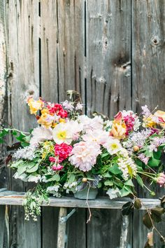 Foraged flower centerpiece