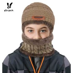 New York Herren Beanie Mütze Schirmmütze Warm Winter Strickmütze