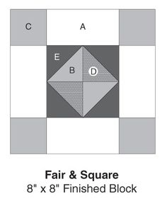 Fair & Square part of Quilter's World's FREE Quilt Block of the Month. Get the download here: http://www.quiltersworld.com/Quilt_Block/?id=30