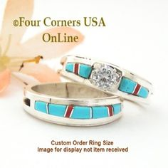 turquoise bridal engagement ring sets navajo wedding rings - Navajo Wedding Rings