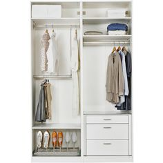 IKEA PAX Wardrobe with interior organizers, white, Hasvik... (2.375 BRL) ❤ liked on Polyvore featuring home, home improvement, storage & organization, closet and casa