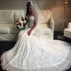 Sydney Leroux's wedding dress. (ESPN)