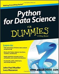 Python for Data Science For Dummies - Free eBooks Download