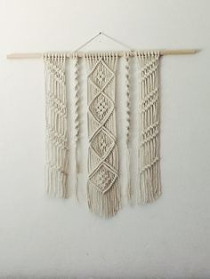 Macrame wall hanging. Customizable. Etsy. Made to order.