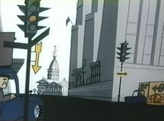 Background from Pete Hothead - Four Wheels No Brakes  This is the second Pete Hothead cartoon that UPA made. It was directed by Ted Parmelee and designed by Parmelee and Sam Clayberger.