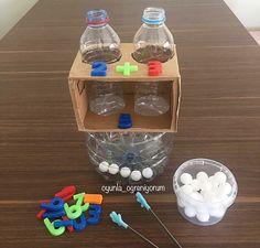 تعطونها كم من 10 إعادة تدوير علب الماء وصنع وسيلة للجمع Oyunla Ogreniyorum وسائل تعليميه وسايل تعليميه Sos Montessori School