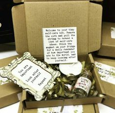Tiny Self Care Kit get well present thinking of by hopetheblackdog