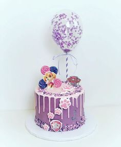"""""""Paw Patrol is on a roll!"""" If you have a kiddo who wishes they lived in Adventure Bay with six dogs and a best friend named Ryder, it may be time to Girls Paw Patrol Cake, Paw Patrol Birthday Girl, Paw Patrol Cupcakes, Paw Patrol Torte, Skye Paw Patrol Cake, Drip Cakes, Fete Emma, Little Pony Cake, 4th Birthday Cakes"""