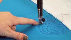 Video - Machine Quilting: More Swirl Designs by Angela Walters & Jennifer Keltner on All People Quilt..  Two more quilting swirl variations, building on the basic swirl design.