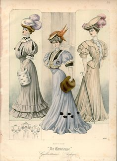 amazing print Fashion Plate - De Gracieuse, 1906 #edchat #artsed #edjustinemoon