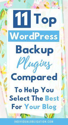 Top 11 Popular WordPress Backup Plugin Tools For Your Needs