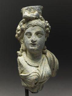 Fragmentary bust figure of the goddess Hariti   Gandhara, 2nd century AD (AD 101 - 200)