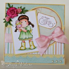 Easter Greeting Card using Magnolia's Stamp from Tracys Stamping Corner