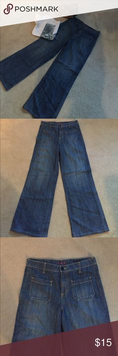 Lux high waisted wide leg jeans Obsessed with these! High waisted wide leg jeans from Lux! Two mini pockets in front. Size 29 and very soft! Shows minimal signs of wear Urban Outfitters Jeans Flare & Wide Leg
