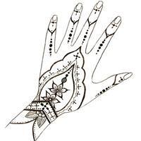Motifs henné Motif de dessin - Loisirs créatifs
