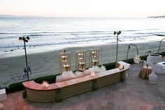 oceanside bar // photographer: Mi Belle Photo // rentals: Classic Party Rentals & Revelry Event Designers // venue: Four Seasons Santa Barbara // lighting: Images by Lighting // planner: Alexandra K #wedding