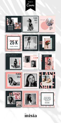 Instagram Design, Instagram Feed Layout, Instagram Grid, Instagram Post Template, Story Instagram, Free Instagram, Instagram Posts, Social Media Template, Social Media Design