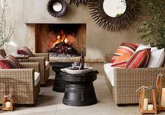 Decorative tables for living room - frog drum accent tables | Decolover.net