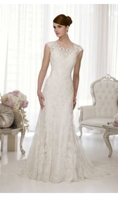 Beautiful A-line Floor-length Wedding Dresses