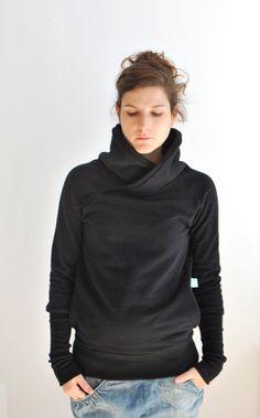 Black QUASAR WINTER Women sweatshirt sweater/   by kupukupuapparel, $85.00