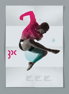 A beautiful and minimalist dance poster. from designspiration.net