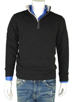 Boss Style Mens Legend Zip Sweater with a Soft Touch and Nice Look Zip Neck Sweaters for Men Black
