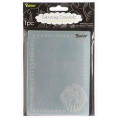 Darice® Embossing Essentials 4.25 x 5.75 inch Embossing Folder - Cupcake Corner Frame