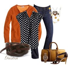 polka dot top, created by gustinz.polyvore.com