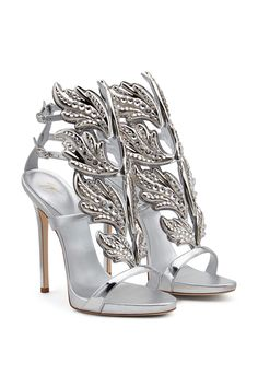 Read more about this gently used, authentic Giuseppe Zanotti Crystal Embellished Metallic Coline Wing Sandal and discover our complete collection of vintage, pre-owned designer handbags, clothing,. Ankle Strap High Heels, Ankle Wrap Sandals, Leather Sandals, Shoes Sandals, Strap Sandals, Metallic Sandals, Embellished Sandals, Giuseppe Zanotti Shoes, Zanotti Heels
