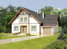 DOM.PL™ - Projekt domu ARP Metis II CE - DOM AP1-12 - gotowy koszt budowy Home Fashion, Exterior, Outdoor Structures, Cabin, Mansions, House Styles, Design, Home Decor, Tips