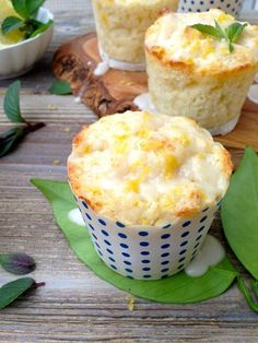 Ricotta Lemon Muffins The Only Lemon Muffins Recipe you'll need. Fluffy, lemony and moist from ricotta cheese with a light lemon glaze. Muffin Recipes, Baking Recipes, Breakfast Recipes, Dessert Recipes, Cupcakes, Cupcake Cakes, Cocina Natural, Little Lunch, Lemon Muffins