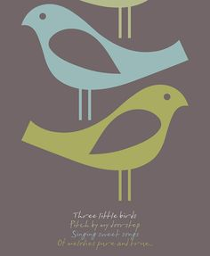 Retro Wall Art Bob Marley Three Little Birds by visualphilosophy
