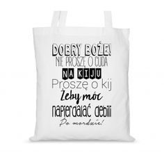Torba bawełniana Bobry Boże! Smile Everyday, Funny Animals, Reusable Tote Bags, Quotes, Style, Poster, Quotations, Swag, Funny Animal
