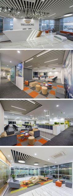 Office Interior Space Design-Trelleborg Office Layout #officedesignsinterior