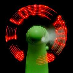 mini ventilador conduzido mensagem – BRL R$ 12,90