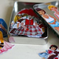 little girls, craft, gift, paper dolls, magnet paper