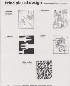 Principles... -Balance - Emphasis/Proportion - Movement/Rhythm - Pattern/Repetition - Contrast/Variety - Unity/Harmony