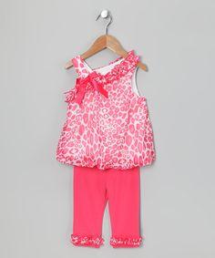 Coral Leopard Tunic & Leggings - Toddler & Girls