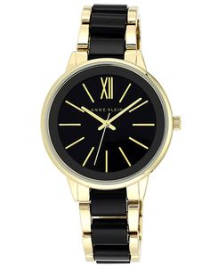 Brands | Watches | Ladies Goldtone and Black Bracelet Watch | Lord and Taylor