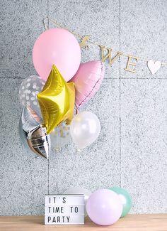 We love unicorns. Glam And Glitter, Glitter Party, Pastel Balloons, Our Love, Unicorns, Stud Earrings, Pop, Popular, Pop Music
