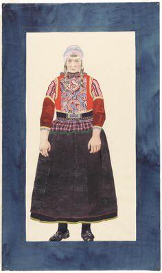 Marker vrouw (van voren) 1939-1949 kunstschilder: Geel, A. van #NoordHolland #Marken