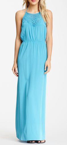 Madison Marcus Halter Silk Maxi Dress