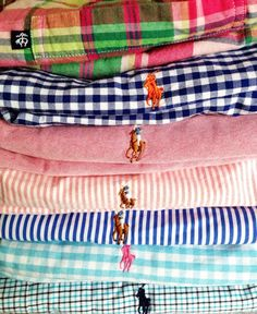 Summer colors from Ralph Lauren.....he's got the vocabulary of East Coast prep down....