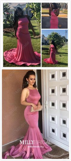 Pink Prom Dresses Long, 2019 Mermaid Prom Dresses For Teens, Cheap Prom Dresses Satin, Simple Prom Dresses Open Back Simple Homecoming Dresses, Prom Dresses Long Pink, Formal Dresses For Teens, Mermaid Prom Dresses, Pageant Dresses, Modest Dresses, Hoco Dresses, Prom Gowns, Formal Gowns