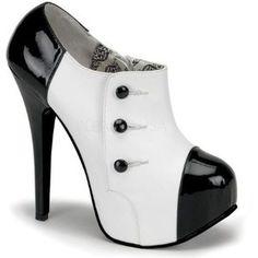 Zapatillas Retro Burlesque Elegante Gotico Pin Up Sexy Teeze ...