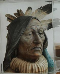 Indigenous people - Wood Carving or Wood Sculptures by Arjuna Zbycho