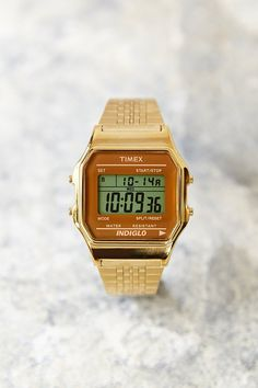 Timex 80 Gold Digital Watch - Urban Outfitters