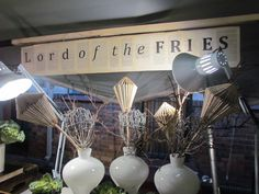 Lord of the Fries - Food station prepared by the forum Lord Of The Fries, Food Stations, Menu Design, Book Pages, Event Planning, Signage, South Africa, Paper Crafts